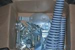 Particolari zincati bianco per restauro moto d'epoca